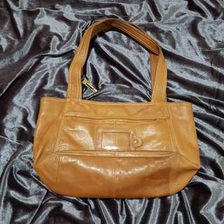 Fossil Leather Brown Shoulder Bag