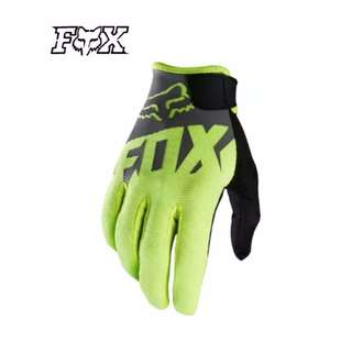 ★FOX HIGH QUALITY MOTORCYCLE GLOVES ★ Black Green★E-SCOOTER GLOVES ★ E-BIKE