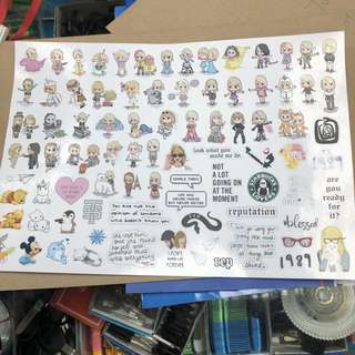 stickers and posters (customise)