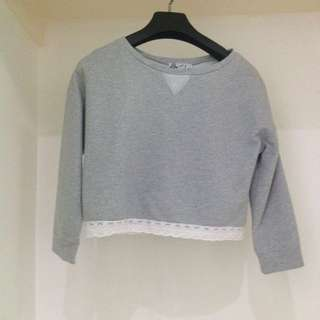 Just G Gray Lace Sweater