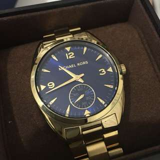 Michael Kors Gold Watch with blue face
