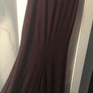 Long Marciano skirt in plum