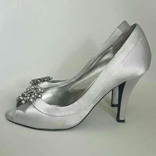 Airflex Wedding Bridal Silver Heels