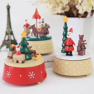 Wooden Christmas music decoration