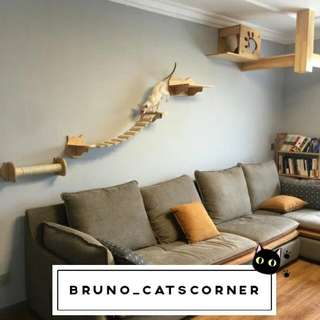 Wall-Mounted Customised Cat Walking Way