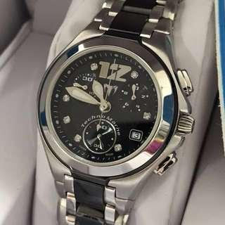 🈹原價$23500 全新 Swiss Made 精鋼+陶瓷 Technomarine Diamond Watch 真鑽石 女裝 手錶 瑞士 鑽石 情人節 情人節禮物 生日禮物