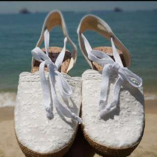 Lace & Nautical Inspired Sandals