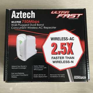 Aztech WL590E 750Mbps Wireless Ac Repeater