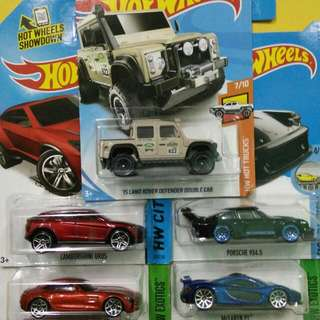Hotwheels. Lot Land Rover. 5 Cars