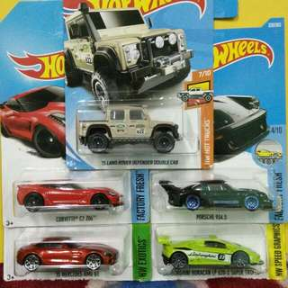 #HotWheels Lot Of 5 Cars