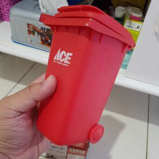 asbak bentuk tong sampah ace