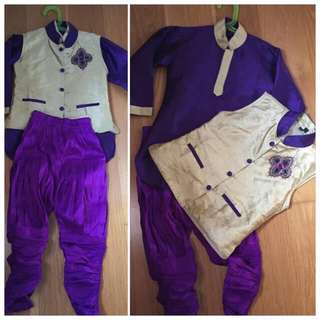 Indian traditional costume for 2-4yo Boy