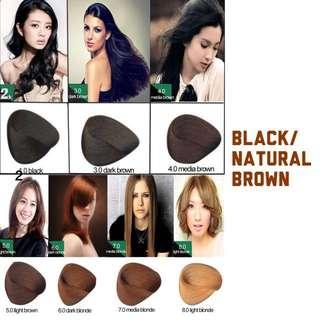 #BUY2FREE1 Natural Brown Korea Professional Hair Color Cream