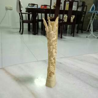 Ivory bone carving