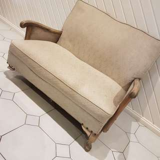 Provincial antique sofa / couch (damaged)