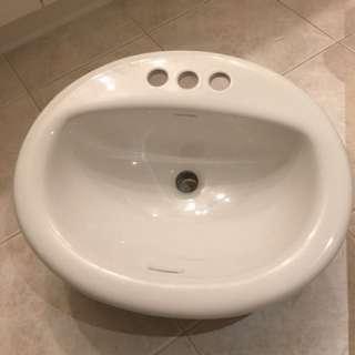 Bathroom white sink