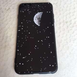 全新 連袋 iPhone 6 iPhone 6s 大機 黑色月亮軟膠殼