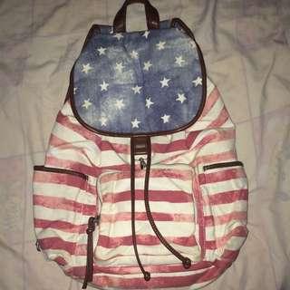 american flag print backpack
