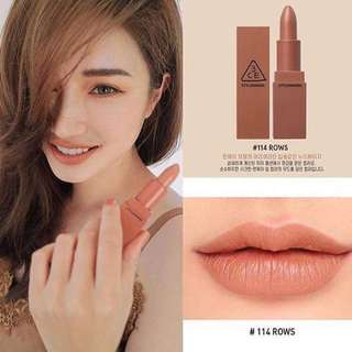 READY STOCKS | Stylenanda 3CE Mood Recipe Matte Lip Color #114 Rows