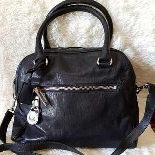 REPRICED AUTHENTIC Michael Korst Black Leather Bag