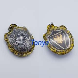 Thai amulets Phra Rahu back with Garuda Lucky Locket Pendant Lp Neankeaw Waikru 55
