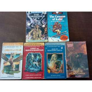 Joe Dever Ian Page Lone Wolf World of Lone Wolf, TSR Dungeons & Dragons Endless Quest Gamebooks - with DEFECTS!!
