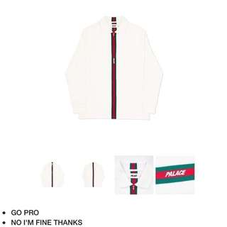 """Palace vertical weave """"Gucci"""" zip polo"""
