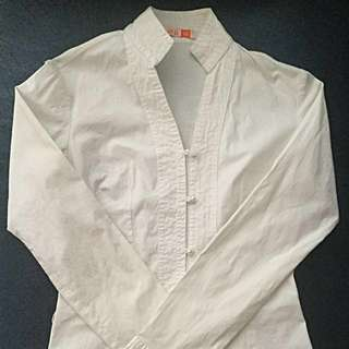 Chinese Collar Long Sleeves