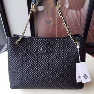 tory burch marion quilted chain shoulder slouchy tote✨