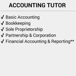 Offering Accounting Tutorial Services Students