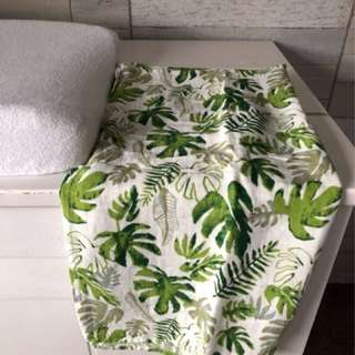 Muslin Cotton Baby Swaddle Monstera Leaf