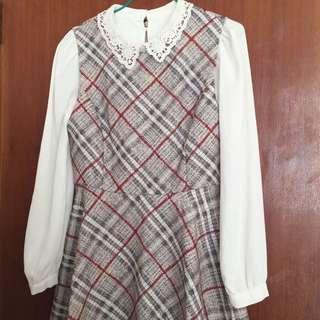 韓國 連身裙 秋冬穿搭