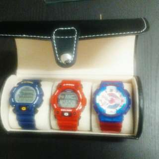 3 slot Travel Case watch