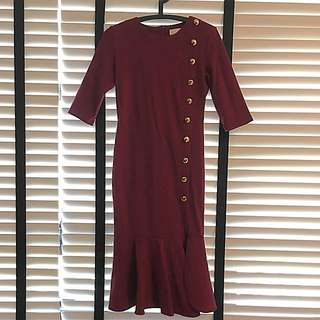 Brand new - Maroon Side Slit Dress
