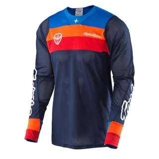 🆕! Troy Lee Designs Racing 🏁 Blue, Orange & White jersey