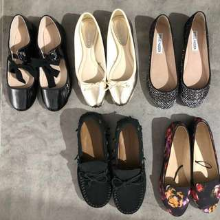 Woman's shoes from Zara H&M Steve Madden