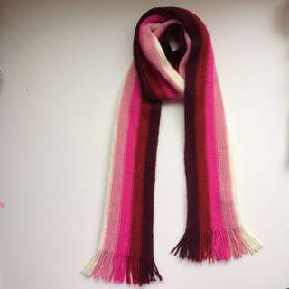 Knitted Colour Block Scarf