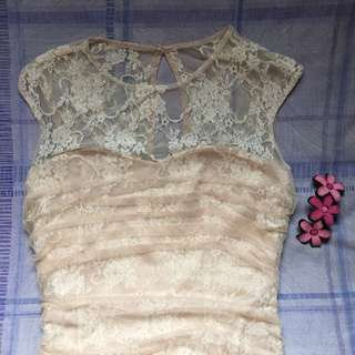 Lace Dress (Cream)