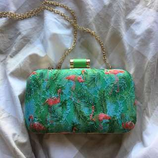 Flamingo Tropical Sling Bag