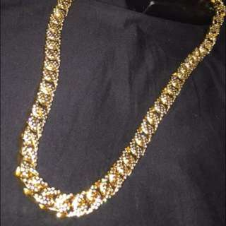 Gold iced out chain