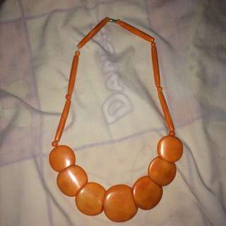 orange necklace