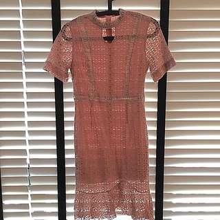 Dusty Pink Fishtail Dress