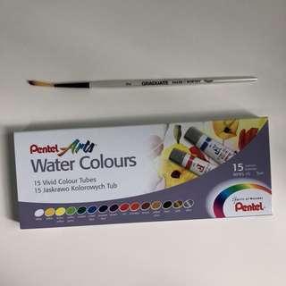 pentel watercolours