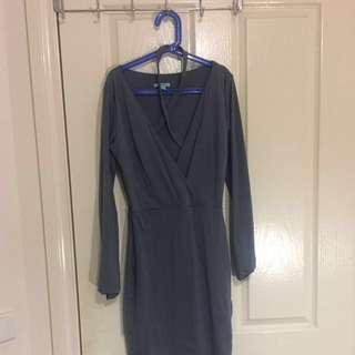 Kookai Abigail Dress In Rhodium Size 1