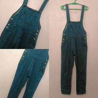 Denim [navy blue] Jumper Pants
