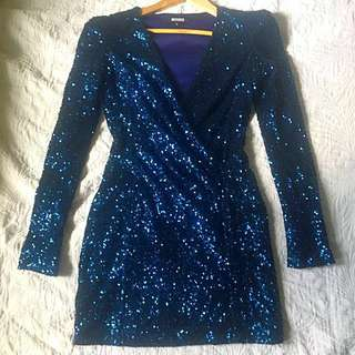 Electric Blue sequinned dress
