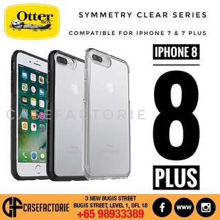 OTTERBOX SYMMETRY CLEAR SERIES FOR IPHONE 8 & IPHONE 8 PLUS CASE CASING COVER (Authentic) (Self-Collect) (Postage)
