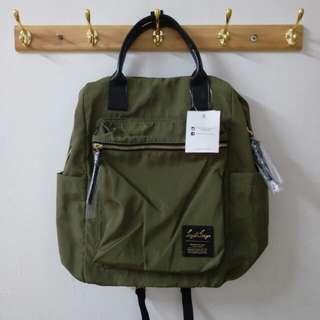 🇯🇵日本熱銷~🎒legato largo🎒輕量 防潑水 10口袋 手提皮革後背包