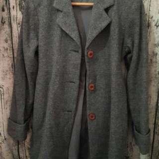 灰色外套大衣  M