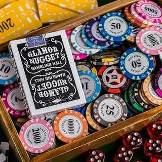 Black Glamor Nugget Playing Cards